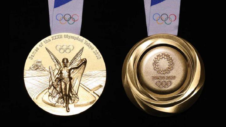 diseño de las medallas de tokio 2020